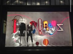 DLT Circus Magic Fashion windows 2013 Summer St Petersburg . Such a cheerful window!