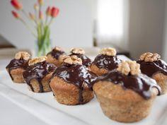 Krydrede banan muffins