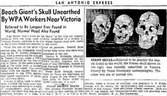 The Nephilim Chronicles: Fallen Angels in the Ohio Valley: Giant Human Nephilim Skull Discovered on Texas Gulf Coast
