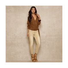 Ralph Lauren Cropped Skinny Stretch Jean ($198) ❤ liked on Polyvore