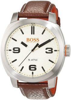 Montre homme rectangulaire bracelet cuir hugo boss