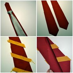 how to sew a hp tie, wand pocket idea, and easy robe clasp idea.  Very smart!
