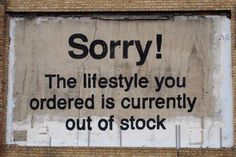 The lifestyle you ordered is currently out of stock