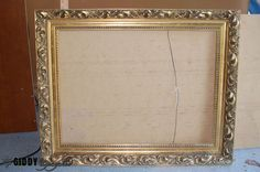 Create a Distressed French Vintage Look With Chalky Finish Paint - Found a steal on some frames at a yard sale, or have old frames around your house that are ta…
