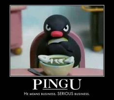 Pingu - Penguin Funny - Funny Penguin meme - - Pingu The post Pingu appeared first on Gag Dad. Pingu Pingu, Pingu Memes, Penguin Meme, Dankest Memes, Funny Memes, Really Funny Pictures, Funny Animal Photos, Cartoon Tv Shows, Quality Memes