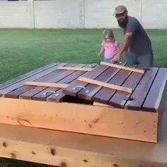 Hidden bench sandbox design - Gadgets - DIY home decor