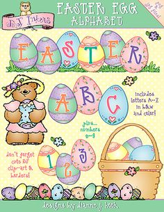 Add our 'Easter Egg Alphabet' to your basket now & SAVE 25%!!!  On sale through April 1, 2015.