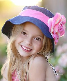 Another great find on #zulily! Blue & Pink Flower Sunhat #zulilyfinds