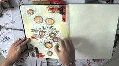 art journaling with gelatos and gesso - by nina in wonderland on youtube - just amazing
