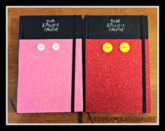 Minnie and Mickey Notebooks for Disney Vacation Disneyland