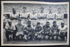 FOTO POSTAL - SELEÇÃO BRASILEIRA DE FUTEBOL DE 1959 - 1 Castilho 2 Bellini Capitão 3 Gilmar 4 Djalma