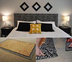 Modernes Schlafzimmer Design Gestalten Mit Diy Bett Kopfteil In  Schwarz_wandgestaltung Schlafzimmer Mit Schwarzen Holzrahmen Und  Selbstgemachtem Idea