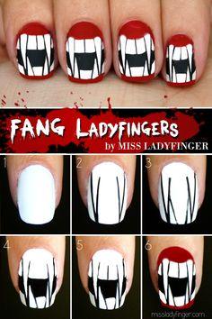 Halloween Fang Nail Art Tutorial