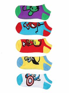 Marvel Universe Heroes Kawaii No-Show Socks - $14.50 http://www.hottopic.com/hottopic/PopCulture/ShopByPopCulture/License/Marvel/Marvel+Universe+Heroes+Kawaii+No-Show+Socks-10003629.jsp?cm_mmc=Affiliate-_-Product-_-Generic-_-HotTopic=pj_DF:845524442333723:HOT=57260=667197164