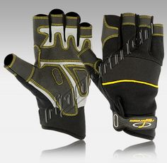 """MG-9876-00 Cut Finger Design Mechanics Gloves is Perfect for Handling Small Parts Made of Front Grey Amara Leather, Back Black Spandex """"4-Way Cloth"""", Neoprene on Knuckle Panel Provides Increased Flexibility, Gripy Reinforced on Finger and Palm for More Gripping Power, This Non-Slip Grip Is Ideal for Use for Hand and Power, Tools in Dry, Wet or Oily Conditions, Elasticized Calf with RIGGERMEN Straps with Velcro Closure.  Suitable for Construction, Hand & Power Tools, Mechanics and Machinists."""