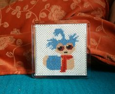 Cross stitch Labyrinth worm ☺ turned in to fridge magnet Pattern from https://www.etsy.com/uk/listing/287504359/ello-labyrinth-cross-stitch-pattern?ga_order=most_relevant&ga_search_type=all&ga_view_type=gallery&ga_search_query=cross%20stitch%20labyrinth&ref=sc_gallery_1&plkey=dda76241639cb36f62769b6b27badfaeab903a5a:287504359