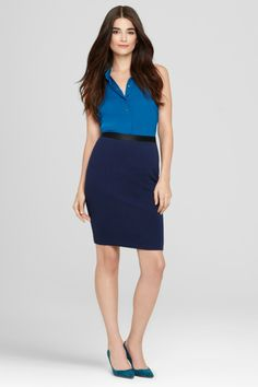 A traditional pencil skirt gets a glamorous makeover with this stunning, waist-accentuating band. Fully lined, functioning side zip.     http://www.elietahari.com/womens-designer-clothing/womens-skirts/mason-skirt/E806V382,default,pd.html?dwvar_E806V382_color=GE0=6=wear_to_work_women=wear_to_work_women