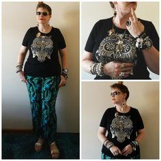 JDS - MY STYLE: Millers owl top and pants, @jeweldivas jewels - details on the blog