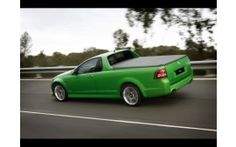 2007 holden ve ss v ute green rear and passenger side speed