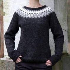 Strikkekit dame - Find moderigtige dame strikkekits her Nordic Pullover, Pullover Mode, Nordic Sweater, Pullover Design, Sweater Design, Sweater Knitting Patterns, Knit Patterns, Icelandic Sweaters, Big Knits