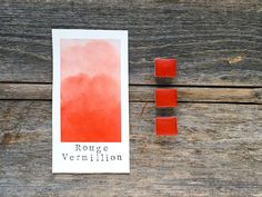 Handmade Watercolor - Rouge Vermillion - Red Pigment - for Painting, Calligraphy, and Lettering Vermillion Red, Red Pigment, Gum Arabic, Handmade Paint, Organic Essential Oils, Wax Stamp, Color Theory, Watercolor Paper, Art Decor