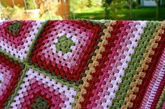 Handmade Granny Square Crochet Blanket 'Berries in Autumn' colours. Great as a picnic blanket , for a campervan, as a photo prop or gift. on Etsy, $91.42 AUD