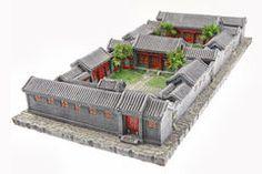 Courtyard model Stock Photography