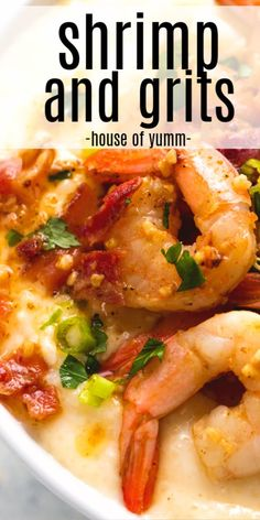 Charleston Shrimp And Grits, Easy Shrimp And Grits, Shrimp And Cheese Grits, Southern Shrimp And Grits, Creamy Shrimp And Grits Recipe, Cajun Shrimp Recipes, Shrimp Recipes For Dinner, Seafood Recipes, Cooking Recipes