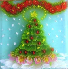 x mas tree art jelly