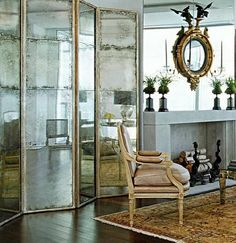 Three-Panel Floor Mirror | Decorating | Pinterest | Floor mirror ...