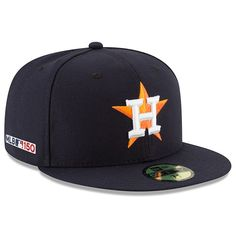 b9c5f8782 Men s Houston Astros New Era Navy Home MLB 150th Anniversary Authentic  Collection 59FIFTY Fitted Hat