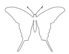Clipart Butterfly Outline Butterfly Outline Clip Art Pictures to pin ...