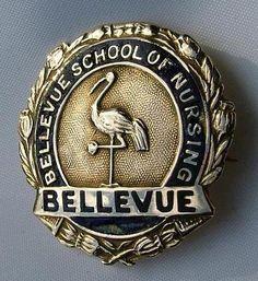 Wow, a badge of honor! Bellevue Hospital School of Nursing Graduation Pin, 1929. #vintage #nurse #pin #uniform #1920s
