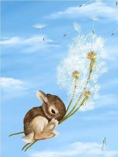Illustrations Vintage, Illustration Photo, Kobold, Creation Photo, Rabbit Art, Bunny Art, Fantasy Paintings, Canvas Prints, Art Prints