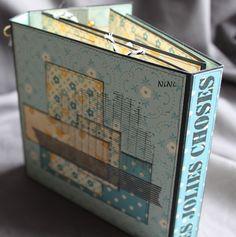 Pas à pas: mini source inépuisable de bonheur - NiNi.scrap'paradis Album Photo Scrapbooking, Mini Albums Scrapbook, Album Book, Book Design, Diy And Crafts, Projects To Try, Decorative Boxes, Paradis, Creative