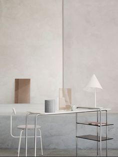 MENU | Conic Table Lamp and Ateroom Chair with B&O Play