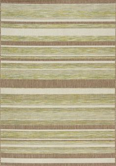 Trellis Stripes Flatweave Green/Brown Indoor/Outdoor Area Rug