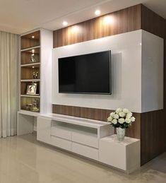 Living room tv wall decor tv shelf 19 new Ideas Tv Wanddekor, Tv Unit Furniture, Black Furniture, Room Interior, Interior Design, Apartment Interior, Interior Modern, Apartment Kitchen, Modern Tv Wall Units