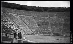 Epidaurus. Theatre from stage. Dorothy Burr Thompson 	 Greece 1923