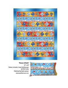 Freestyle pattern for quilt and pillowcase Boxes & Rails - PTN1645