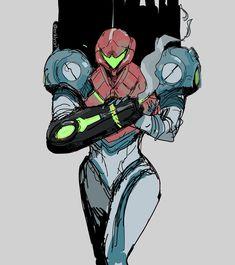 Metroid Samus, Metroid Prime, Samus Aran, Video Game Anime, Video Game Characters, Video Game Art, Art Inspiration Drawing, Character Design Inspiration, Mother Games