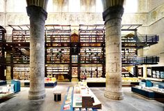 SELEXYZ DOMINICANEN, MAASTRICHT, THE NETHERLANDS  This wonderful bookshop is in a 13th century Dominican church which has a floor space of 750 sq. metres.