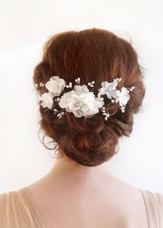STARDUST white floral hair vine with buds $105