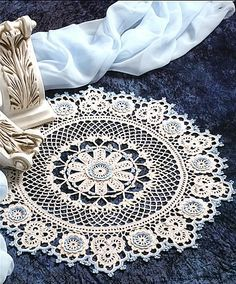 Renaissance Beauty Doily free pattern - would love to do this as a round afghan