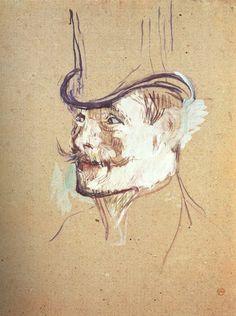 Retrato de William Warrener, 1892. Henri De Toulouse Lautrec, Encaustic Painting, Painting & Drawing, Drawing Sketches, Art Drawings, Trois Crayons, Art Nouveau, Art Of Manliness, Pastel Portraits