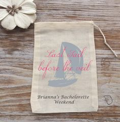 10 Nautical favor bags Last sail before the veil by EverlongEvents