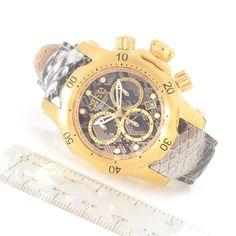 Invicta Reserve 42mm Venom Swiss Made Quartz Chronograph Leather Strap Watch evine.com