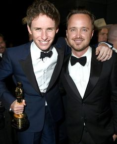 Eddie Redmaybe and Aaron Paul #Oscars
