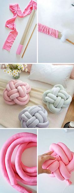 Try This DIY Knot Pillow! It is Effortless And Costs Almost Nothing (Posts by Concilia Banda) Must Try This DIY Knot Pillow! It is Effortless And Costs Almost NothingMust Try This DIY Knot Pillow! It is Effortless And Costs Almost Nothing Fun Crafts To Do, Diy Home Crafts, Easy Crafts, Easy Diy, Diy Para A Casa, Knot Pillow, Knot Cushion, Sewing Projects, Diy Projects