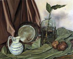 """Contrasting Textures,"" Luigi Lucioni, 1965, oil on canvas, 23 1/8 x 28 1/4"", Smithsonian American Art Museum."